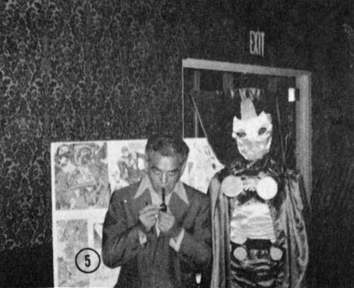 Jack Kirby with Mr. Miracle cosplayer 1972