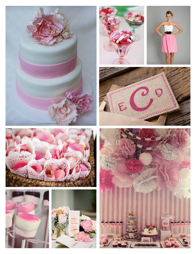 The pink stripes of this Well Wed candy bar are so much fun!