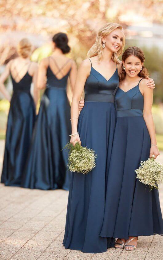 5581018597b Courtesy of Sorella Vita bridesmaids dresses  9168 Modern Satin Bridesmaid  Dress by Sorella Vita