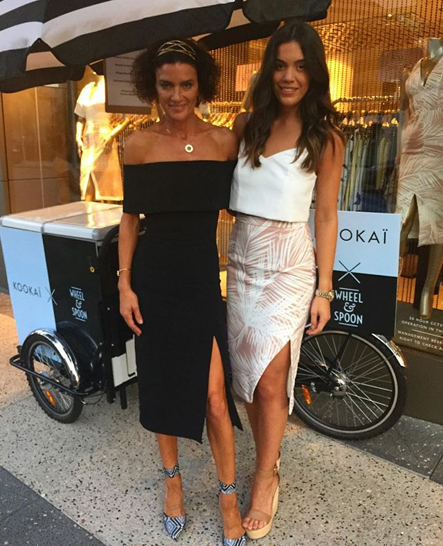 We love having @dan_kookai_australia and @biancavagnercromb visiting our James St Boutique today for James St Resort, head in for 20% off fu