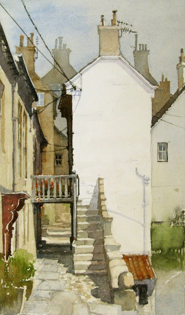 ۩۩ Painting the Town ۩۩ city, town, village & house art - Bill Hook - Staithes