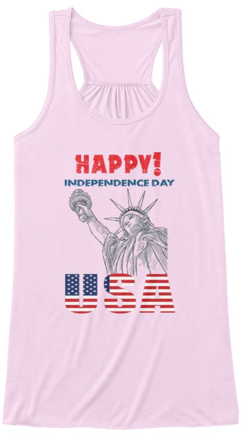 Happy! Independence Day Usa Soft Pink T-Shirt Front