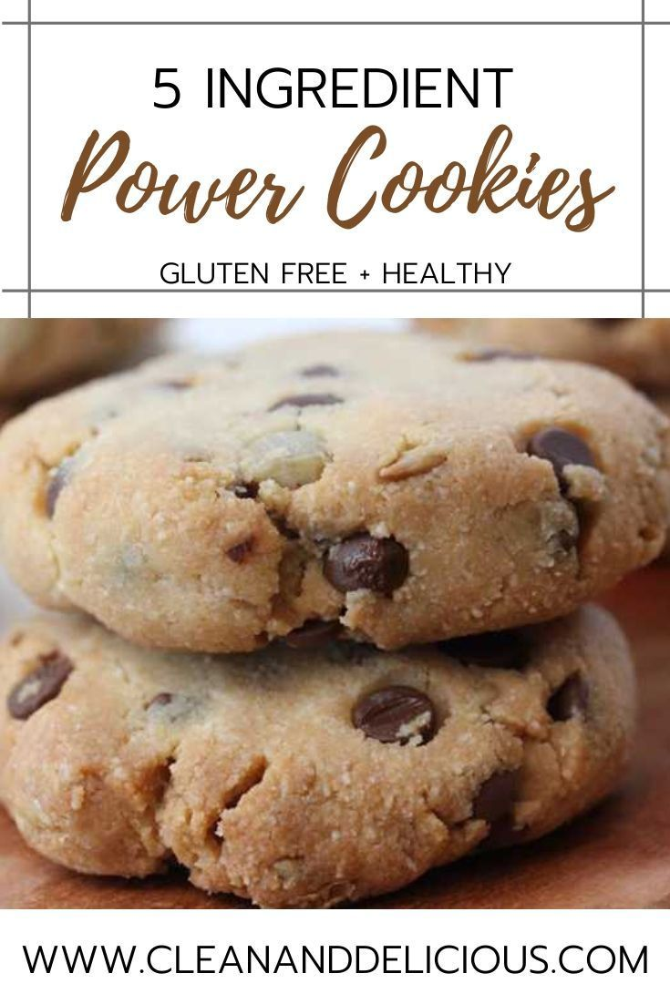5 Ingredient Power Cookies Recipe Almond Recipes Breakfast Cookies Healthy Power Cookie