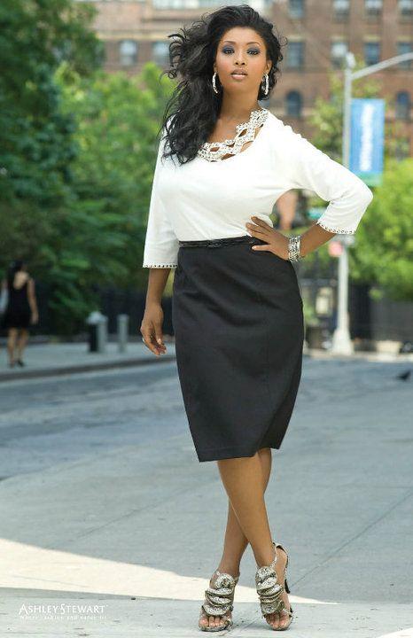 white top black skirt