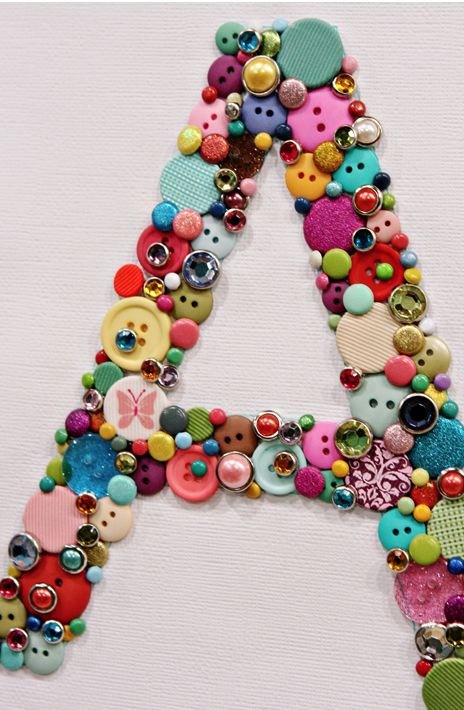 buttons!!!: Ideas, Button Letters, Buttons Letters, Buttons Art, Buttons Monograms, Girls Rooms, Crafts, Buttons Initials, Kids Rooms