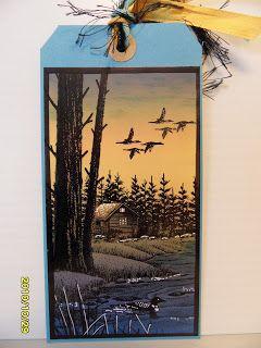 Trish's Artistic Adventures: Stampscapes - Bookmark