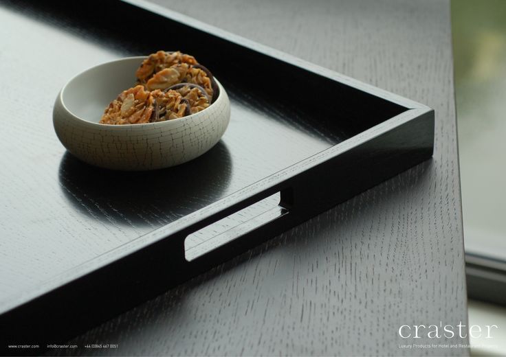The Squared Handles Give This Tray Its Modern Feel And Make The Tray Easy  To Carry