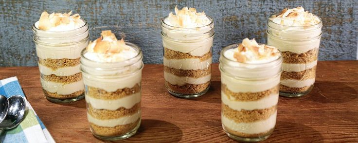 A twist on a classic key lime pie!  This was really good.  I multiplied the recipe and put in a triffle dish.