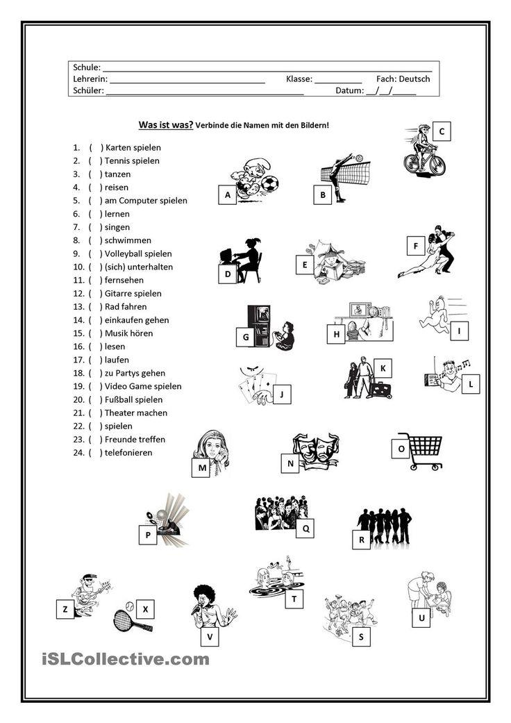69 best german hobbys y freizeit images on pinterest learn german german language and german. Black Bedroom Furniture Sets. Home Design Ideas