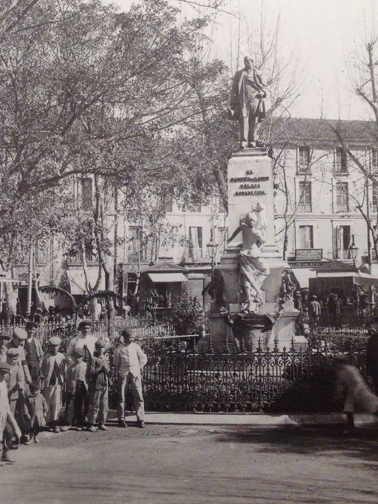Alameda 1910. Monumento Manuel Domingo Larios