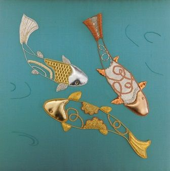 Goldwork by Diploma student Thora Fleming, Royal School of Needlework