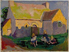 Emily Carr - Breton church, oil on canvas, 1906