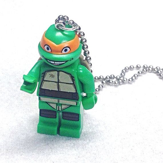 Michelangelo Necklace  Lego Minifigure  by creativityismessy, $15.00