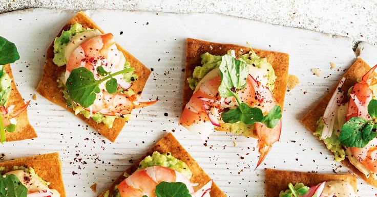 A new twist on the classic prawn cocktail, these pita bites will be the hit of the party.