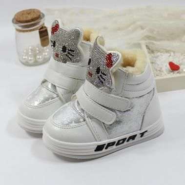 Children's winter boots new fashion 2016 Girl PU snow brand cartoon sneakers kids waterproof rubber shoes botas infantis 352