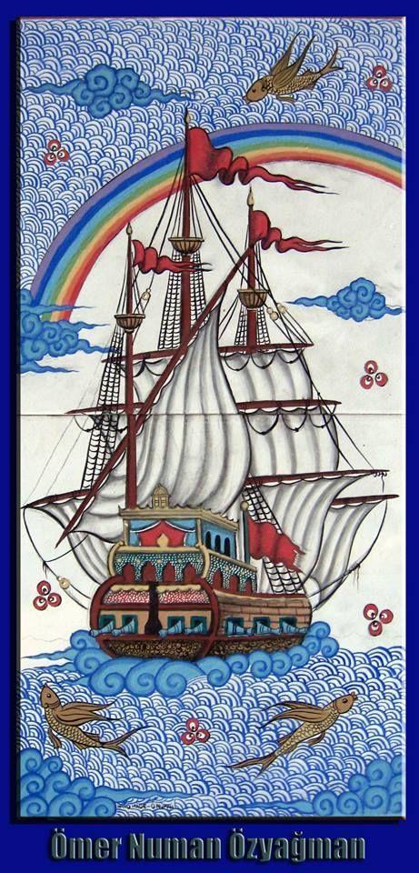 Ottoman Galleon Türk El Sanatları Çini El Sanatı