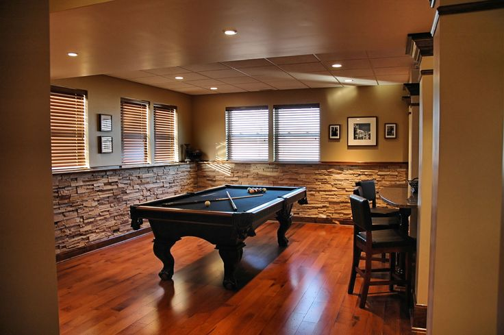 This week we are heading downstairs to the basement to escape from the summer heat. With temperatures rising now is the best time to stay inside and work on creating a space you'll appreciate year round. #basement #mancave #bar