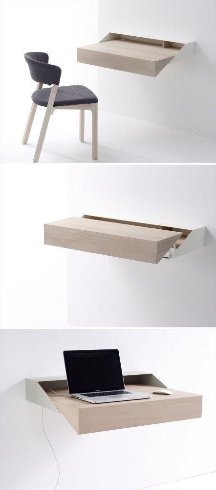 Wooden secretary #desk / #wall shelf DESKBOX by Arco Contemporary Furniture #wood #work