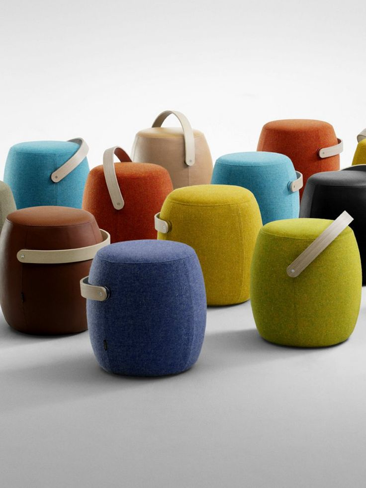 Upholstered #pouf CARRY ON by @offecct #colour