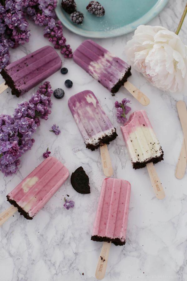 Fräulein Klein : Oreo-Cheesecake-Eis und Heidelbeer-Creme Mini-Pies