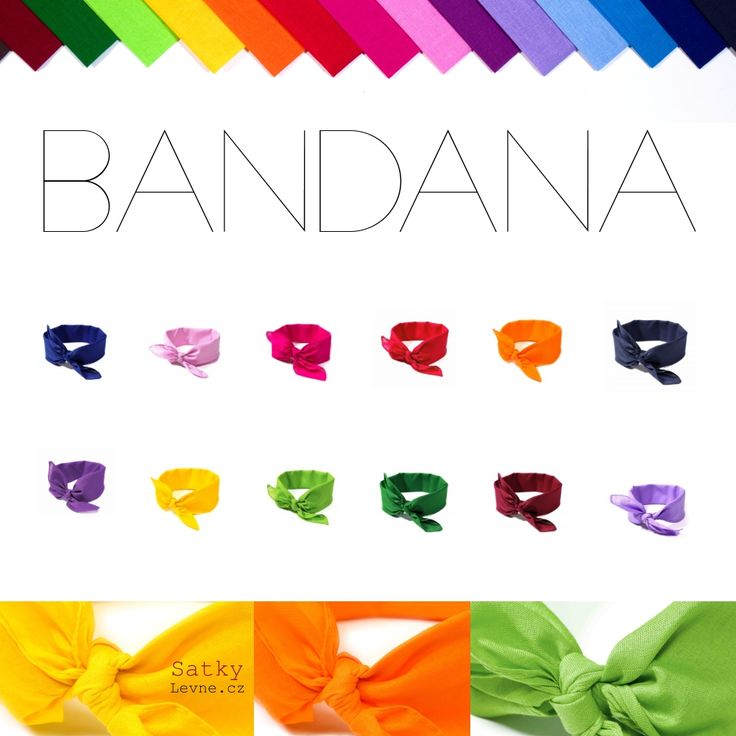 Jednobarevné šátky do vlasů BANDANA   :v tady http://www.satkylevne.cz/www/cz/shop/satky-do-vlasu-2/?page=&shop_order_direction=&shop_order_by=&pagination_step=40