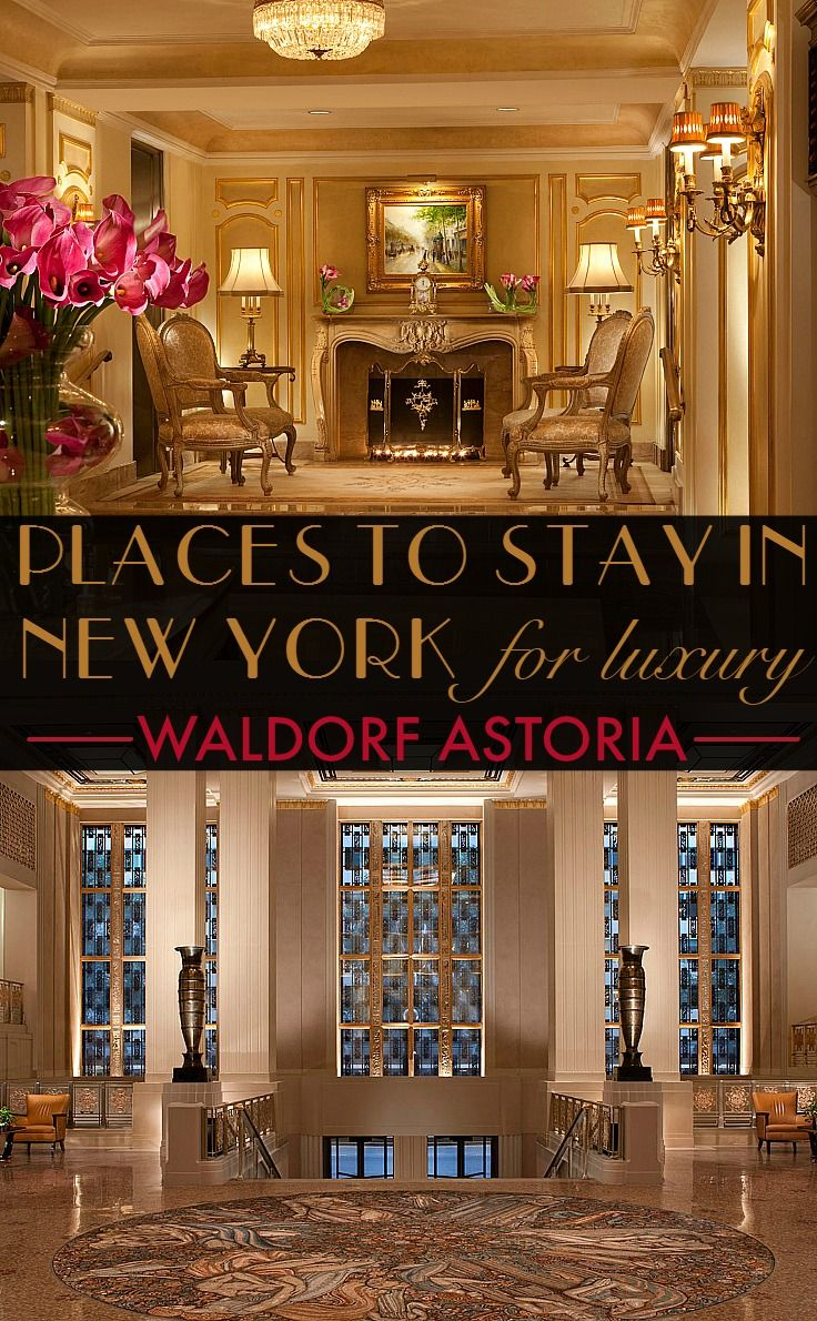Where to stay in New York for luxury travellers. From the smart tech-lovers' hotel to historic boltholes, and style driven suites to travel for. The Waldorf Astoria is the most iconic hotel in the city, providing art deco elegance and finery to guests for more than a century.