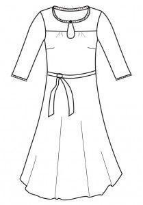 Bella kjole str.34-46  Kjole el. skjorte Bella Str: 34 (36) 38 (40) 42 (44) 46 sværhedsgrad *  Beskrivelse Skjorte eller kjole med et lille bærestykke og trenselukning i halsen. Hals og ærmekanter afsluttes med kantebånd. Model A syes som skjorte. Model B syes som kjole.   Model A: § 145 (145) 145 (175) 180 (185) 185 cm stof til model A, brd. 140 cm  Model B § 250 (255) 260 (270) 275 (280) 285cm stof til model B, brd. 140 cm § 150 (155) 160 (165) 170 (175) 180cm foer til model B, brd. 140…