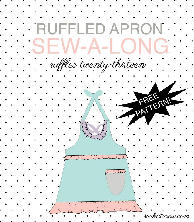 ruffled apron pattern sew-a-long details, pattern and graphics! - see kate sew