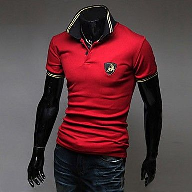 Mens Stylish Short Sleeve Embroidery Polo Shirt (3 Colours)