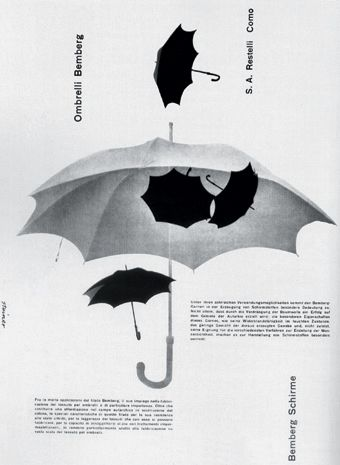 Albe Steiner | Ombrelli Bomberg