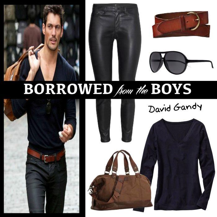 Borrowed From The Boys: #DavidGandy | www.fatfreefashion.com #menswear #menswear-inspired