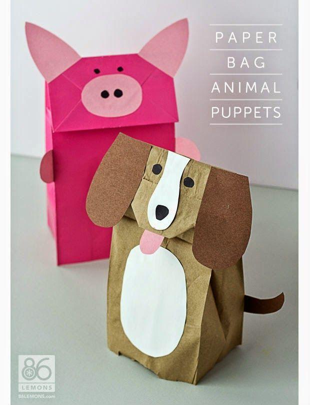 Bichinhos de sacos de papel tipo fantoches | Uma Casa Igual A Sua