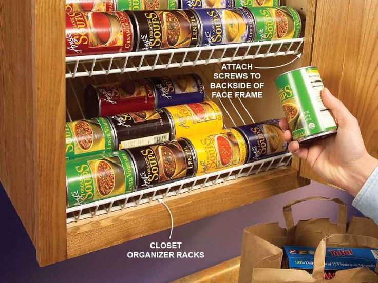 Use those leftover closet racks as cabinet organizers. Trim the racks to length with a hacksaw and t... - Provided by The Family Handyman