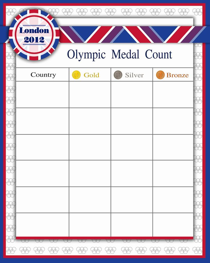 Free Olympic Printables from Darling Doodles
