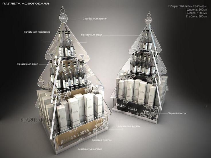 Retail Point of Purchase Design | POP Design | Alcohol & Soft Drinks POP | BELUGA Xmas