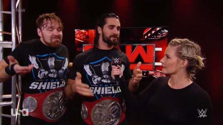 Dean Ambrose, Seth Rollins, Renee Young