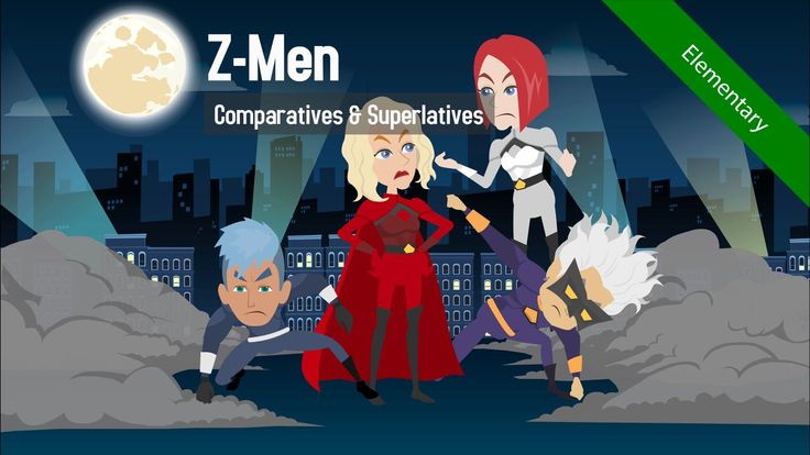 Don't miss the exciting first episode of the superhero comic Z-Men! Teach comparative & superlative adjectives to elementary level learners.