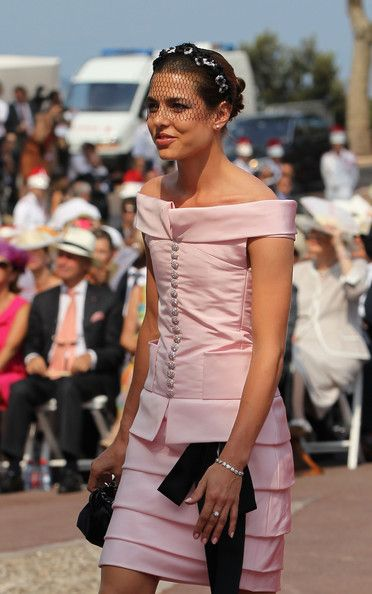 Charlotte Casiraghi attends the religious ceremony of the Royal Wedding of Prince Albert II of Monaco to Princess Charlene of Monaco in the main courtyard at the Prince's Palace on July 2, 2011 in Monaco. The Roman-Catholic