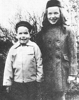 Warren Beatty and Shirley MacLaine childhood photograph in Richmond, Va