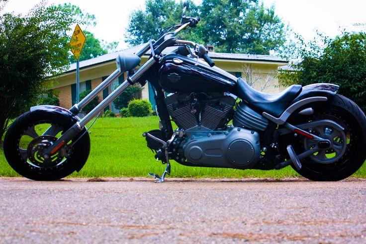 Chopper Kits For Harley-Davidson® FXCW Rocker Models, 2 Choices of Rake +9° & +14°.    http://chopper-kit-usa.com/harley_Rocker.htm