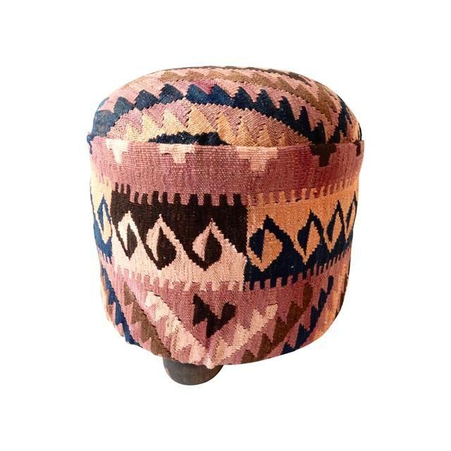 Image of Afghan Kilim Ottoman