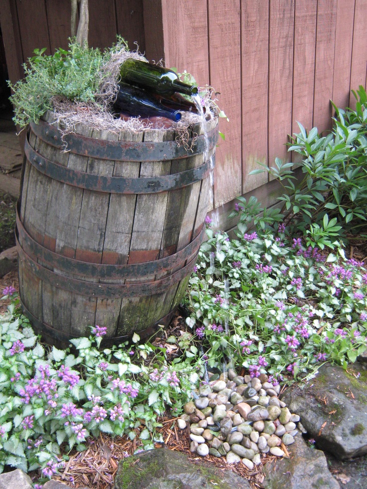 1000  images about wine barrel fountains on pinterest