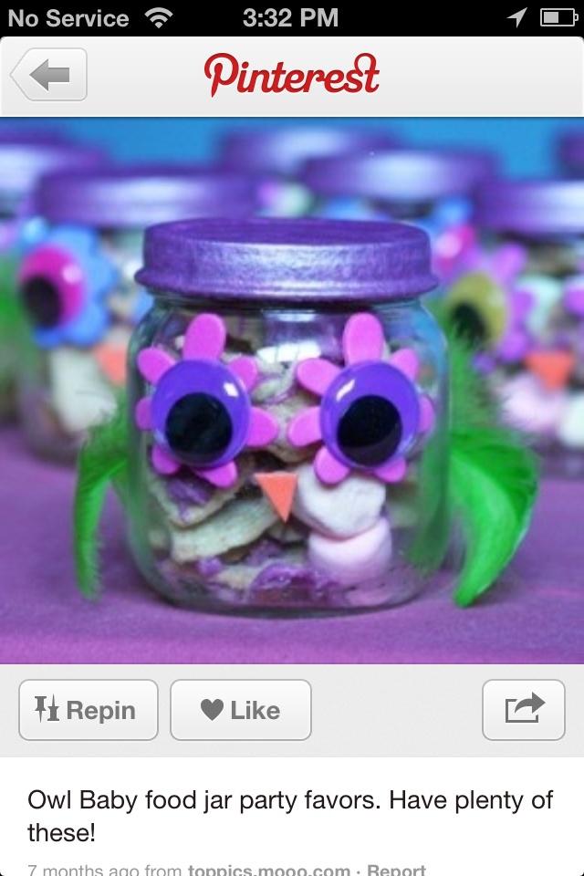 Baby food jar idea/owls