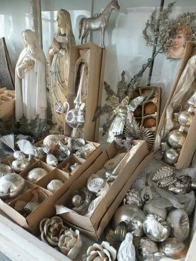 Look at all these vintage ornaments! Where is this store????