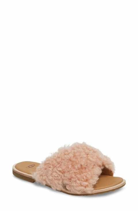 6a2dd65e6d7 UGG® Joni Genuine Shearling Slide Sandal (Women)