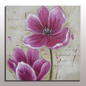 Hermosa Flor Púrpura Arte de La Pared Pintura Al Óleo Abstracta Pintura Al Óleo Sobre Lienzo Pintado A Mano de Acrílico para Living Room Decor Fotos