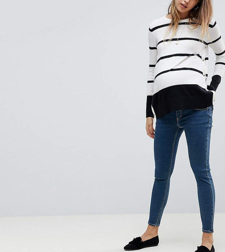 Washed Under Bump Skinny Maternity Jeans