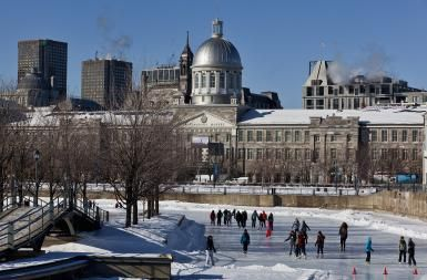 Montreal's Flashiest Skating Rink: 2015-2016 Season: The Bonsecours Basin is easily Montreal's flashiest outdoor skating rink.