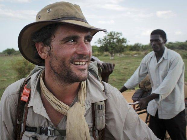 O ex-capitão do Exército britânico Levison Wood durante sua caminhada ao longo do Nilo (Foto: Ilya Gridneff/AP)