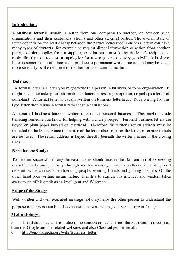 formal letters informal enquiry principles letter business intent